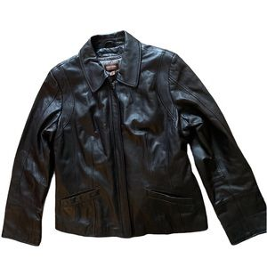 Danier Leather Black Jacket L